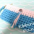 RibbonXLクラッチポーチ (ブルー)