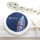 刺繍&サーフボードコースター (BEACH ホワイト)
