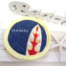 刺繍&サーフボードコースター( HAWAII イエロー)