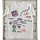 【ルート66♪】ハンド刺繍Tシャツ