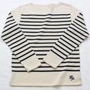 テンジクヤ パネルボーダーTシャツ ナチュラル(生成り)X ネイビー