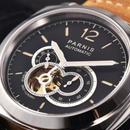 【パネライ好きな人へ】Parnis 44mm 自動巻き 機械式腕時計 スケルトン 100m防水 サファイアクリスタル