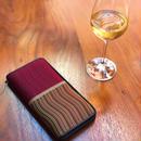 波筬(なみおさ)長財布(ファスナー付)【506-N-4 紫】