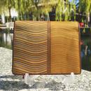 波筬(なみおさ)二つ折財布【307-6 金茶】