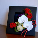 胡蝶蘭のフレームアレンジ 睦/ケース入り/プリザーブドフラワー/長寿祝い 開店祝い 開業祝い
