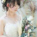 bouquet set * anemone + pampas grass *
