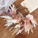 winter wreath *antique white × pink*
