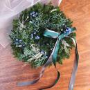 winter wreath *green × blue*