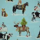 ロバートカフマンUSプリント クリスマス 雪の動物 110cm×10㎝