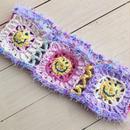 ☺︎にこちゃんヘアバンド☺︎(cotton×pastel purple)