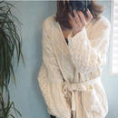 即納cable Knit gown cardigan
