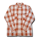 BOWL L/S CHECK SHIRT ORANGE