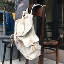 Canvas  Flap  Back  Pack/Natural