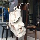 Canvas  Flap  Back  Pack/Natural