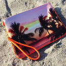 "Neoprene Clutch Bag ""Palmtrees"""