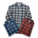 【FIVE BROTHER】ライトヴィエラ オンブレチェック BDシャツ