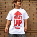【残りわずか】HEAT-UP⇧Tシャツ【白×赤】