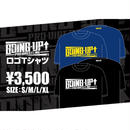 【GOING-UP】ロゴTシャツ/青×黄【NEW】