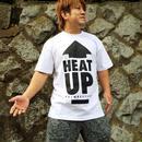 【再販】HEAT-UP⇧Tシャツ【白×黒】