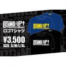 【GOING-UP】ロゴTシャツ/黒×白【お早めに】