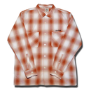 HARDEE BOWL L/S CHECK SHIRT ORANGE