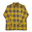 HARDEE FLANNEL L/S CHECK SHIRT MUSTARD