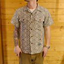 S/S NATIVE PATTERN SHIRT BLACK