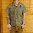 T/C BROAD EMBROIDERY SHIRT OLIVE
