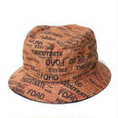 CUT RATE ALLOVER BUCKET HAT ORANGE CR-16ST0035