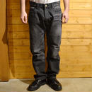 5 POCKET USED DENIM PANTS USED BLACK[CR-15S008]