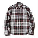 CUTRATE  L/S CHECK SHIRT BLACK CR-17SS001