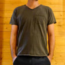 2PACK V NECK POCKET TEE P.BLACK[#7606]