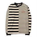 CUT RATE L/S BORDER T-SHIRT BLACK&WHITE CR-17AW017