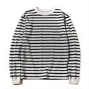 CUT RATE L/S BORDER T-SHIRT GRAY CR-16AW017