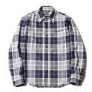 CUTRATE  L/S CHECK SHIRT NAVY CR-17SS001