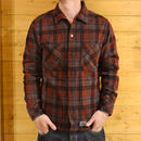 GARMENT DYED WOOL SHIRT RED