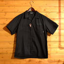 S/S EMBROIDERY WORK SHIRT BLACK