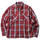 FUCT SSDD OMBRE CHECK SHIRT RED