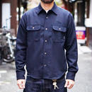 L/S PLANE WOOL SHIRT NAVY