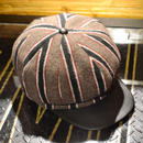 STRIPE CASQUETTE BROWN