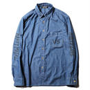CUT RATE L/S VERSUS CHAMBRAY SHIRT LT.INDIGOBLUE CR-18SS015