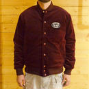 VELVET STADIUM JACKET BURGUNDY