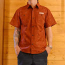 CROSS BONE ALLOVER PATTERN SHIRT BURGUNDY