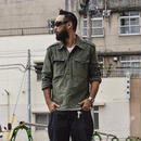 CUTRATE L/S PULLOVER SHIRT OLIVE CR-16ST055