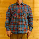 L/S CHECK FLANNEL SHIRT BLUE