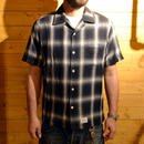OMBRE CHECK S/S SHIRT BLACK[#4305]