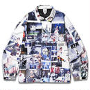 BORN X RAISED SHERM ALL OVER PRINT COACH JACKET
