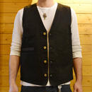 TWILL COTTON VEST BLK