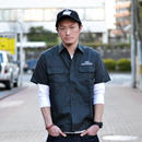S/S TWILL WORK SHIRT BLACK CR-16S044