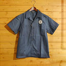 S/S EMBROIDERY WORK SHIRT BLUE